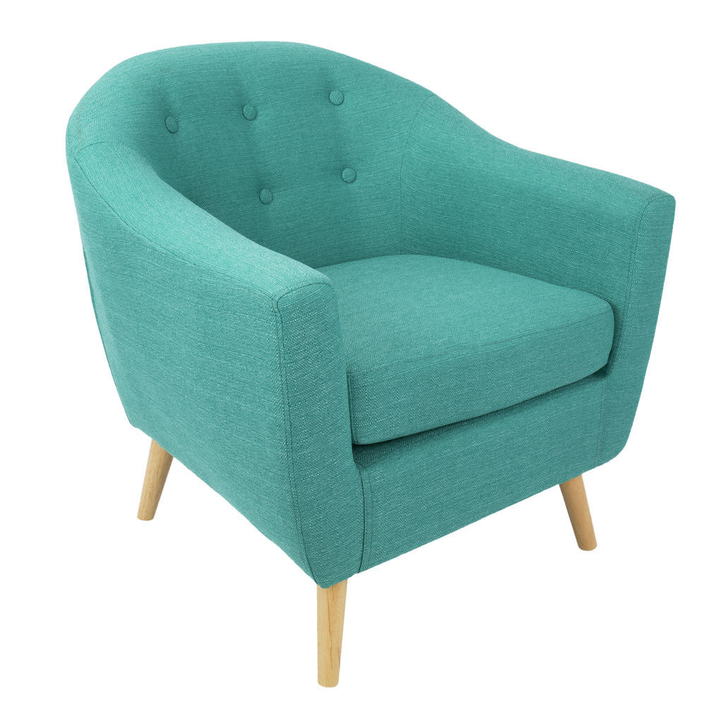 Incredible Lumisource Rockwell Mid Century Modern Accent Chair In Teal By Lumisource Lamtechconsult Wood Chair Design Ideas Lamtechconsultcom