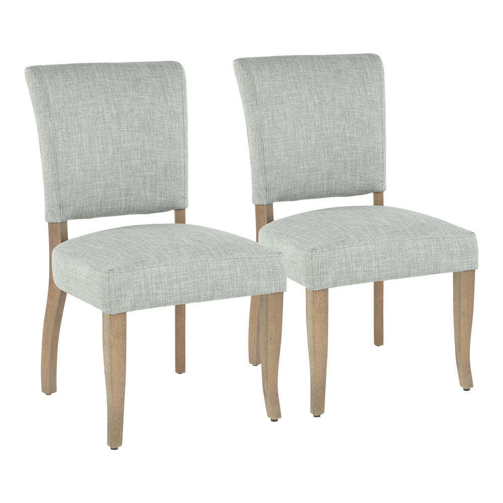 Astounding Lumisource Rita Contemporary Dining Chair In Ash Brown Wooden Legs And Green Grey Fabric Set Of 2 Ncnpc Chair Design For Home Ncnpcorg