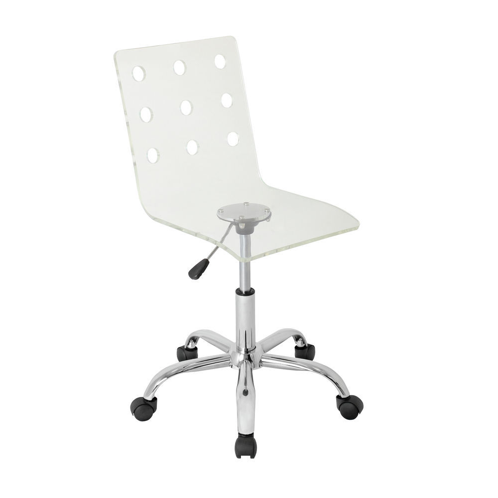 Magnificent Lumisource Swiss Contemporary Adjustable Office Chair With Swivel In Clear Acrylic By Lumisource Evergreenethics Interior Chair Design Evergreenethicsorg