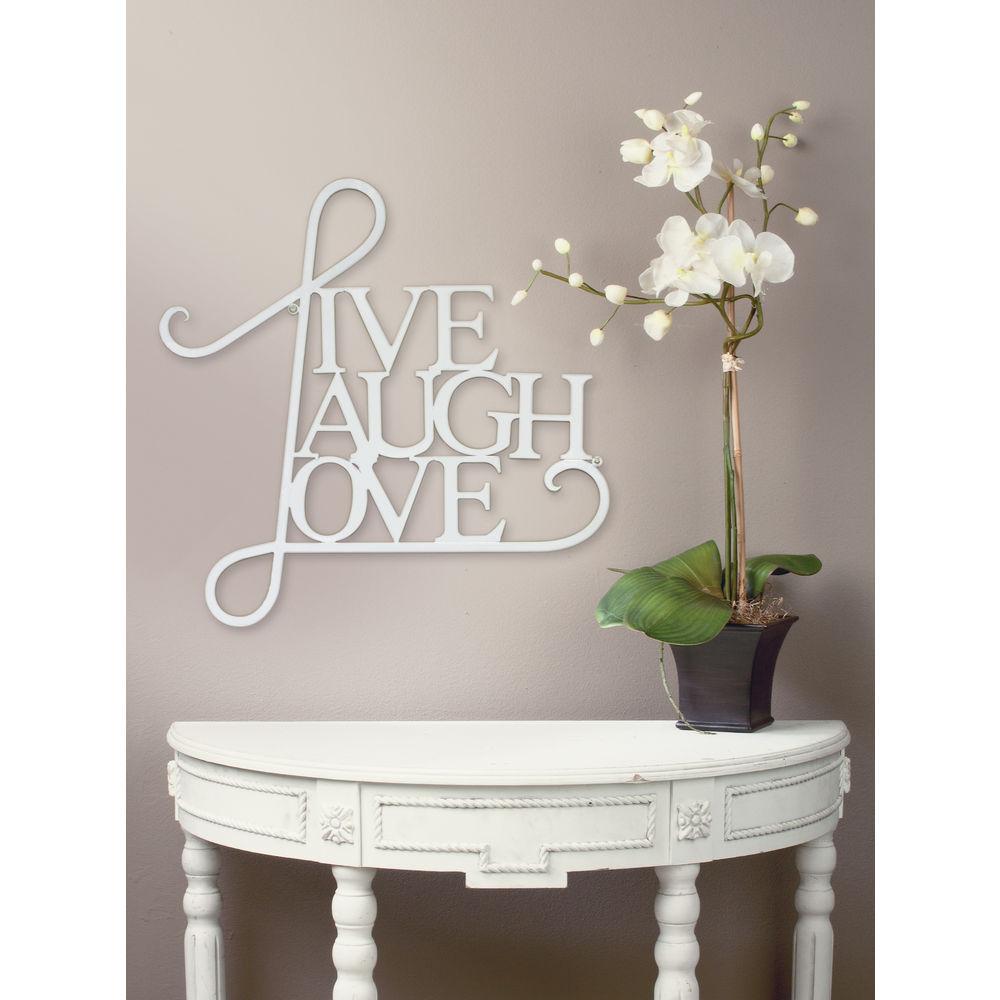 Tripar Live Laugh Love Wall Art White