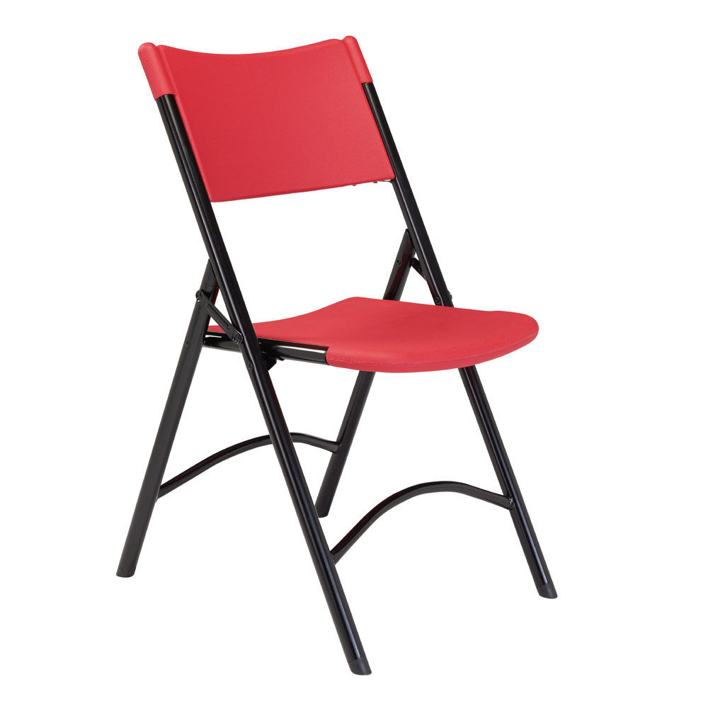 Stupendous National Public Seating Blow Molded Resin Plastic Folding Chair Red Pack Of 4 Ocoug Best Dining Table And Chair Ideas Images Ocougorg
