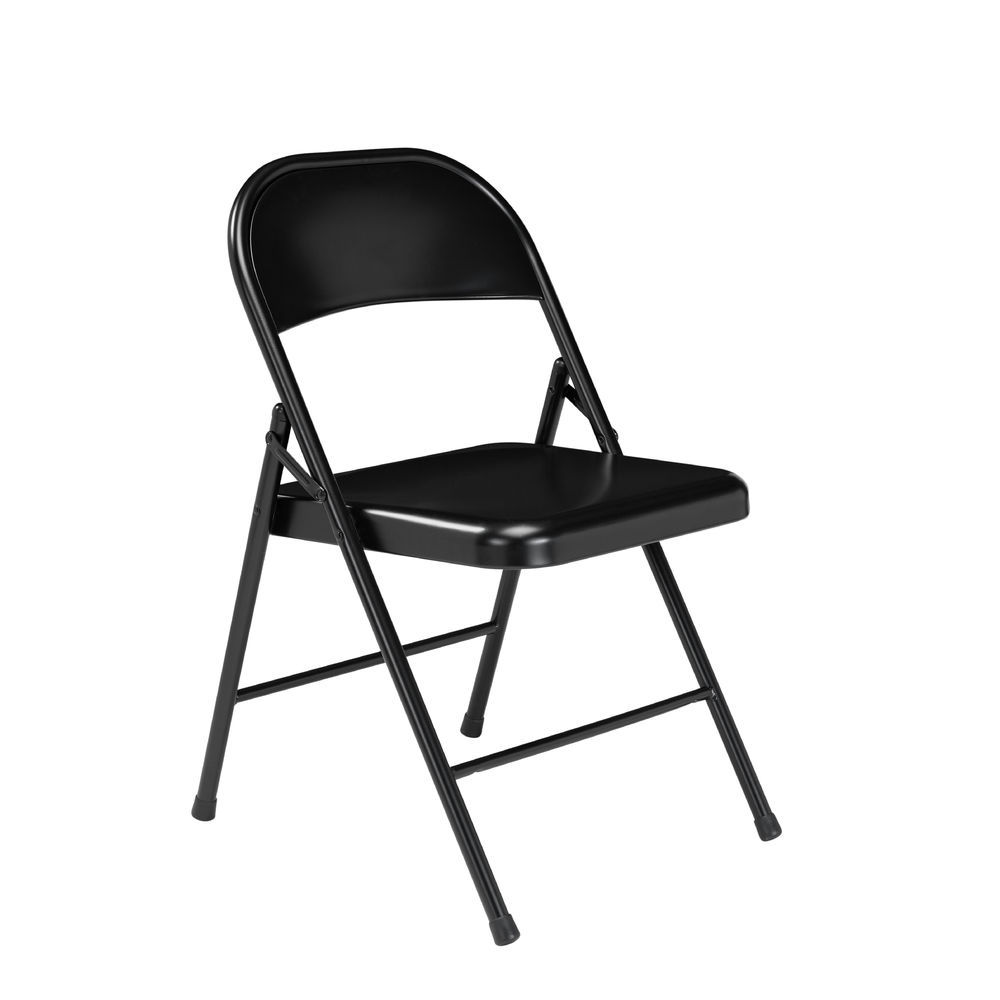 Surprising National Public Seating Commercialine All Steel Folding Chair Black Pack Of 4 Ocoug Best Dining Table And Chair Ideas Images Ocougorg