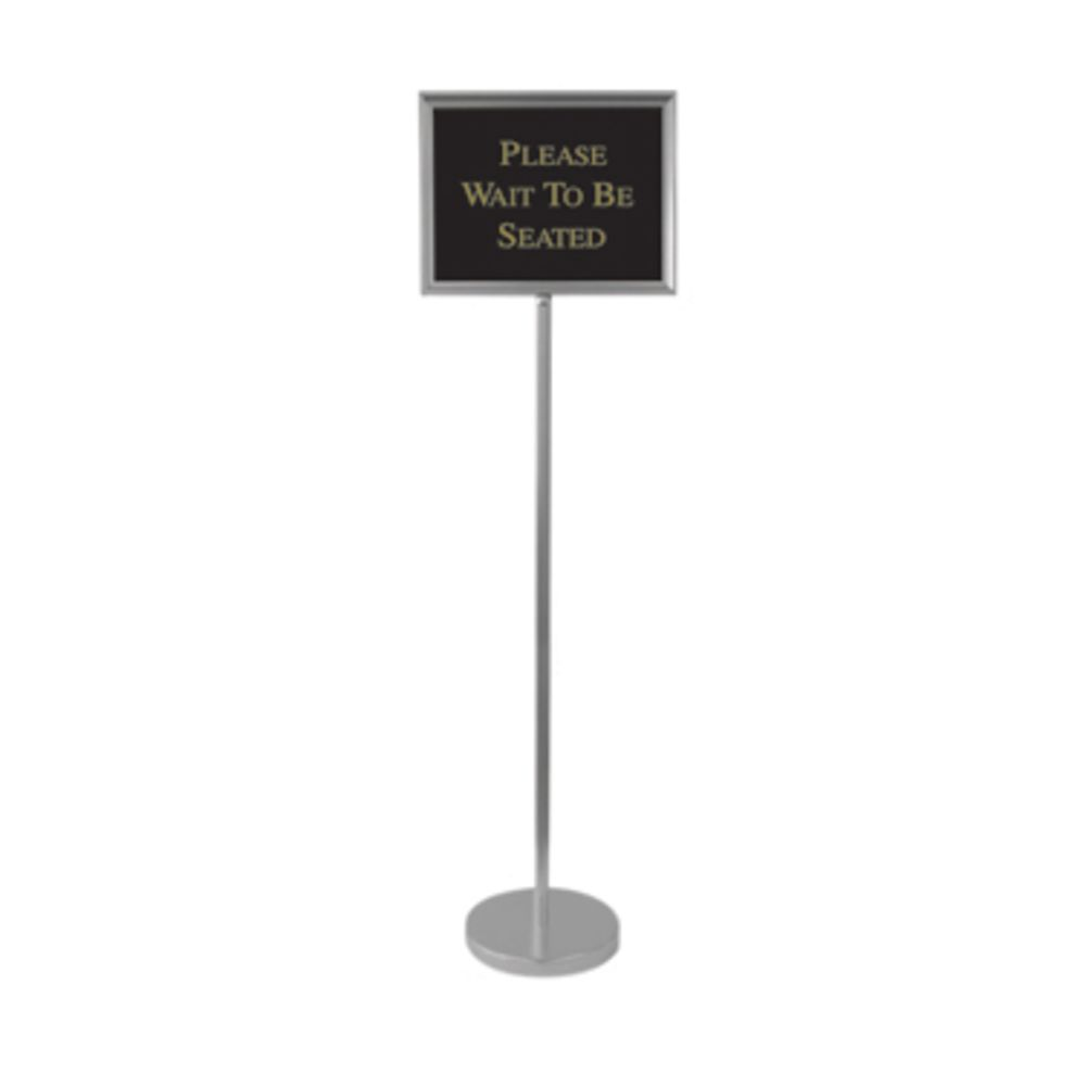 Aarco Silver Aluminum 15w X 12h Director Sign Stand W 12 Signs