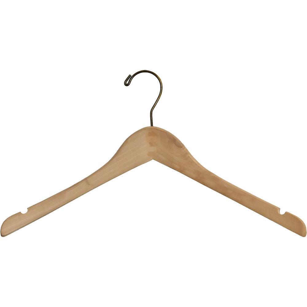 International Hanger Petite Tung Oil Wood Top Hanger W/ Notches (15