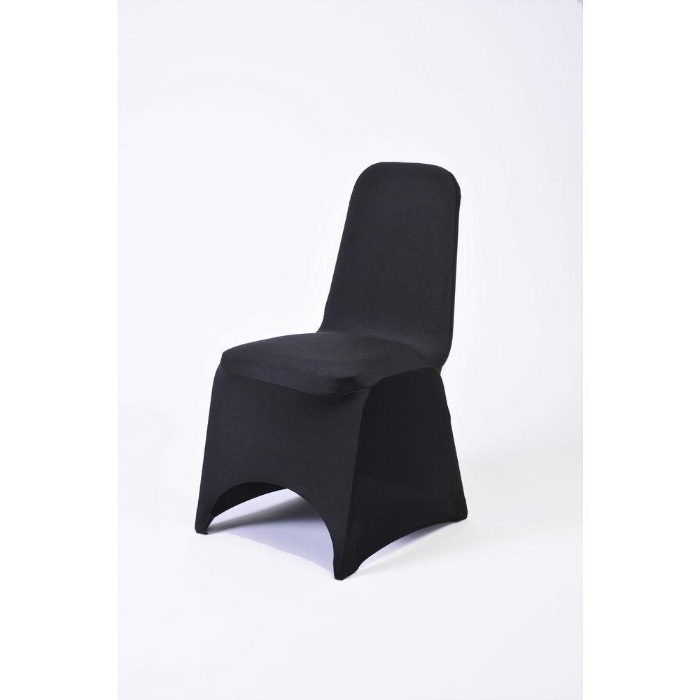 Astounding Sculptware Fitted Black Spandex Standard Chair Cover Machost Co Dining Chair Design Ideas Machostcouk
