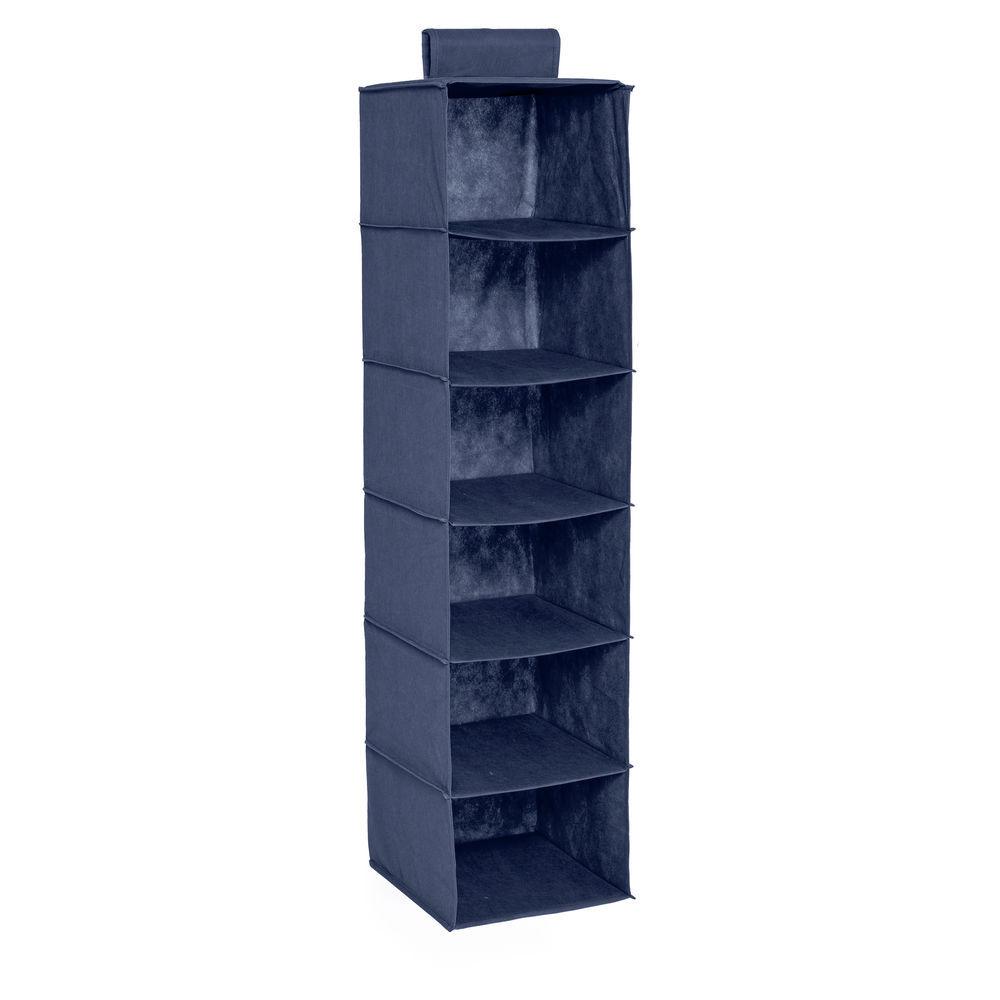 Honey Can Do 6 Shelf Hanging Closet Organizer Navy