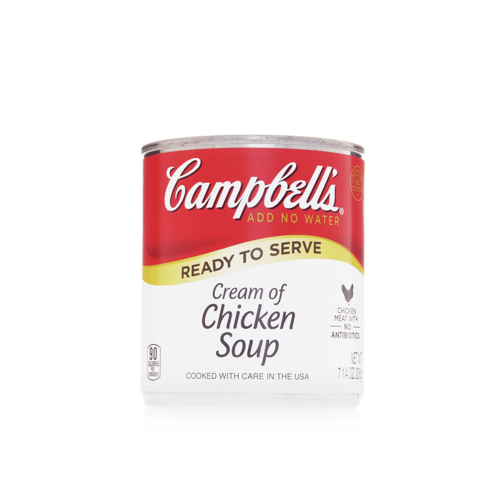 Campbell S Campbell S Ready To Serve Easy Open Cream Of Chicken Soup 7 25 Ounce Can 24 Per Case 000000443