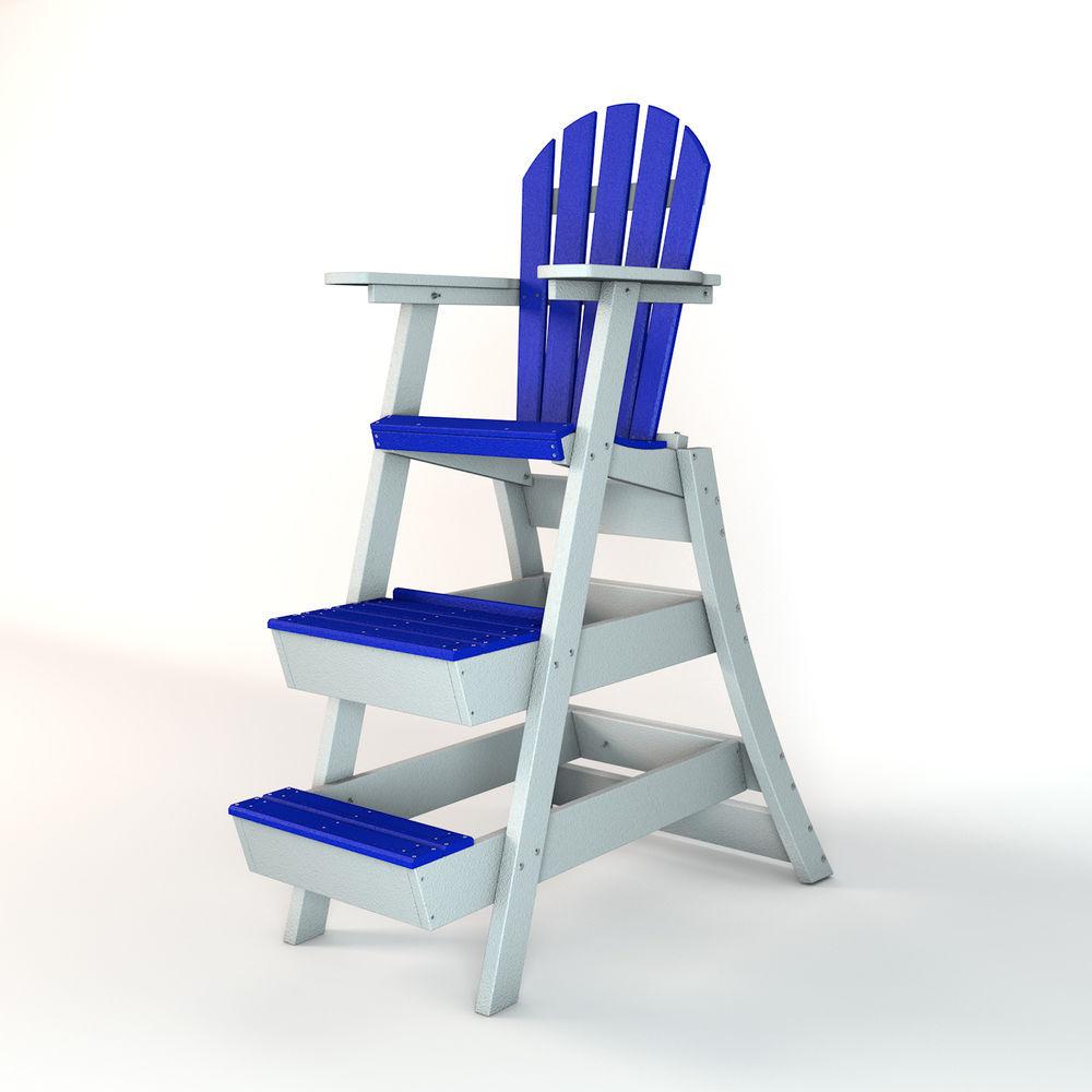 Frog Furnishings 42 Quot Blue White Lifeguard Chair