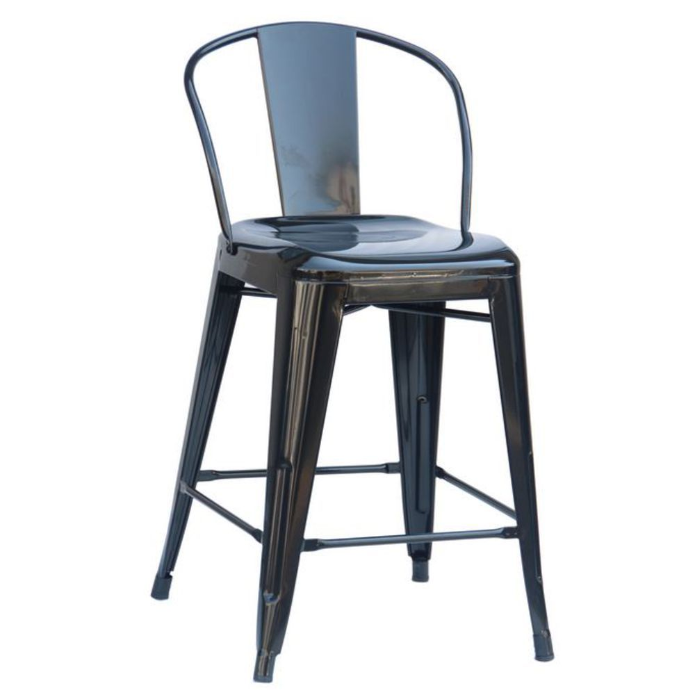 Tremendous Reservation Seating Black Round Back 24Counter Stool Bralicious Painted Fabric Chair Ideas Braliciousco
