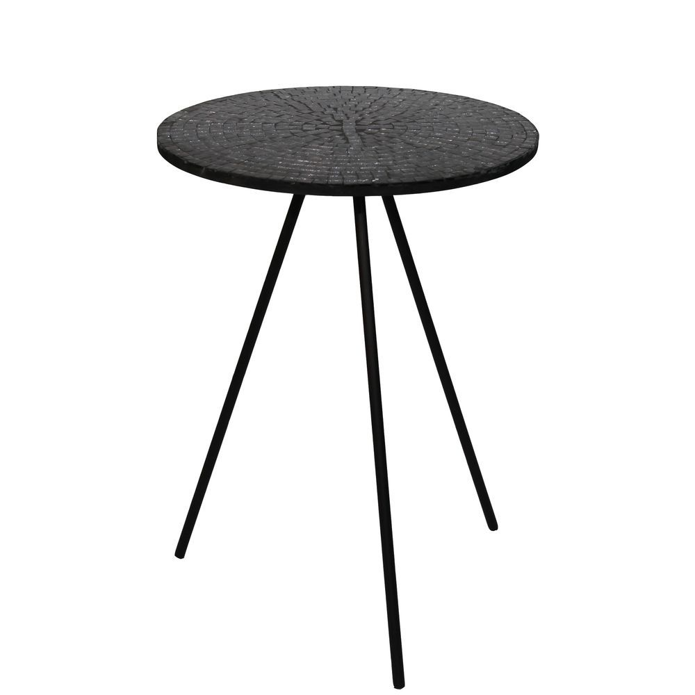 - Privilege Multicolor Metal Mosaic Accent Table,22H X 16W X 16D