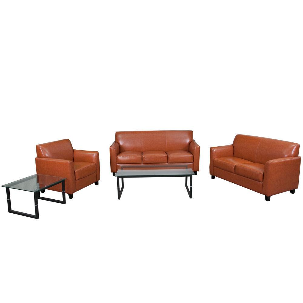 Flash Furniture HERCULES Diplomat Series Reception Set in Cognac