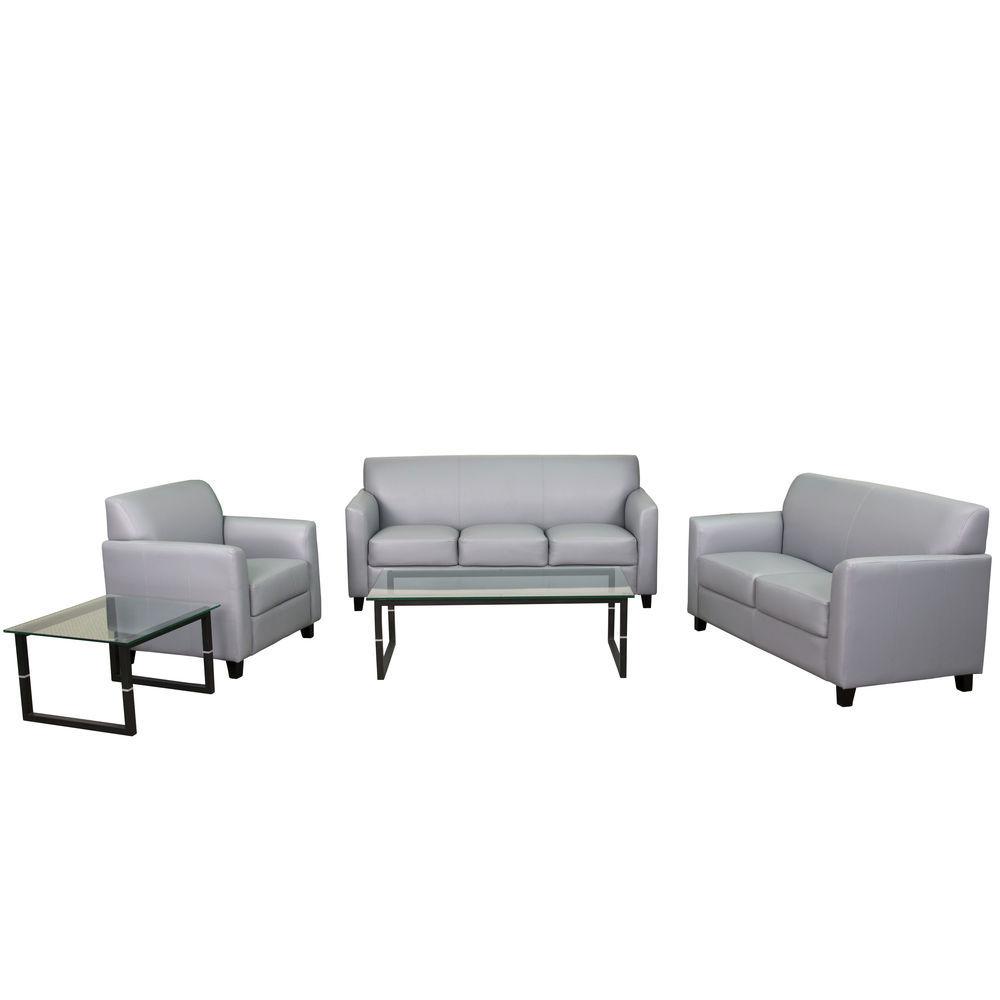 Flash Furniture HERCULES Diplomat Series Reception Set in Gray