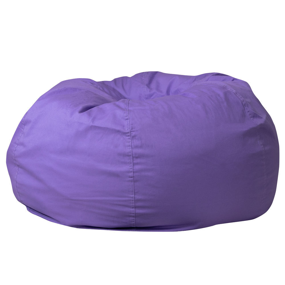 Swell Flash Furniture Oversized Solid Purple Bean Bag Chair Pdpeps Interior Chair Design Pdpepsorg