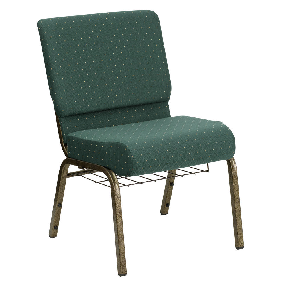 Flash Furniture Green Dot Fabric Church Chair