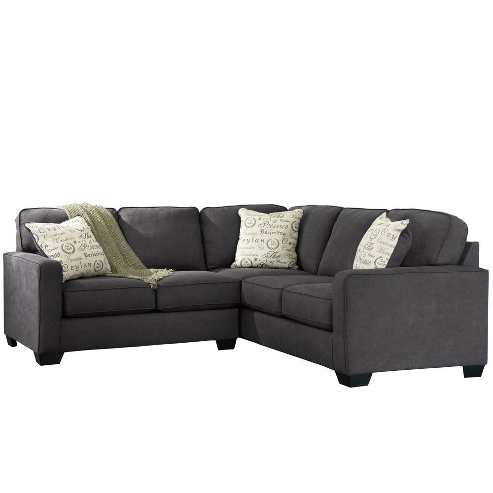 Enjoyable Flash Furniture Signature Design By Ashley Alenya 2 Piece Sofa Sectional In Charcoal Microfiber Caraccident5 Cool Chair Designs And Ideas Caraccident5Info