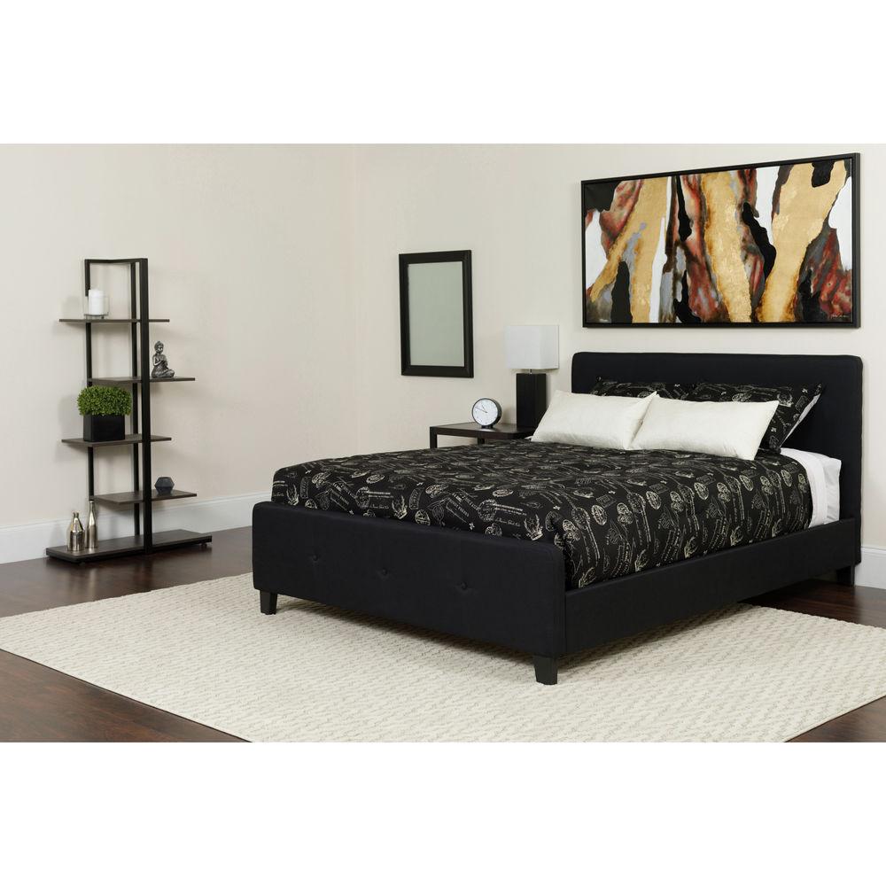Flash Furniture Queen Platform Bed Set-Black