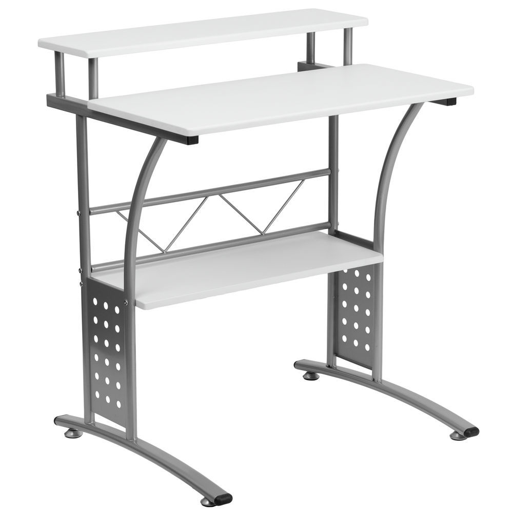 Flash Furniture Clifton White Computer Desk