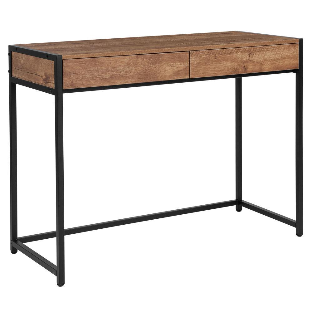 Flash Furniture Cumberland Collection Computer Desk in Rustic Wood Grain  Finish