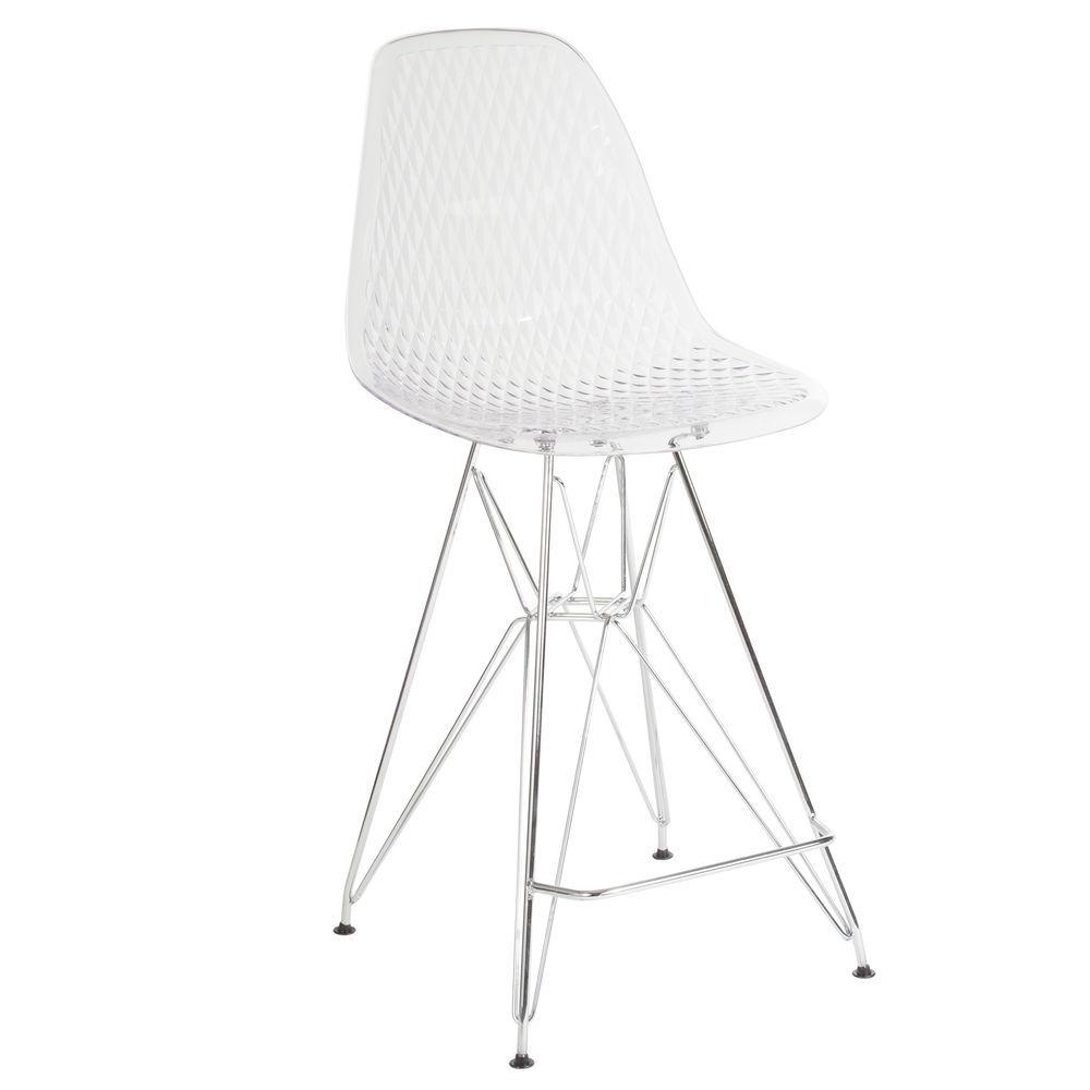 Flash Furniture FH-118-APC1-GG 25.75 High Transparent Counter Height Stool