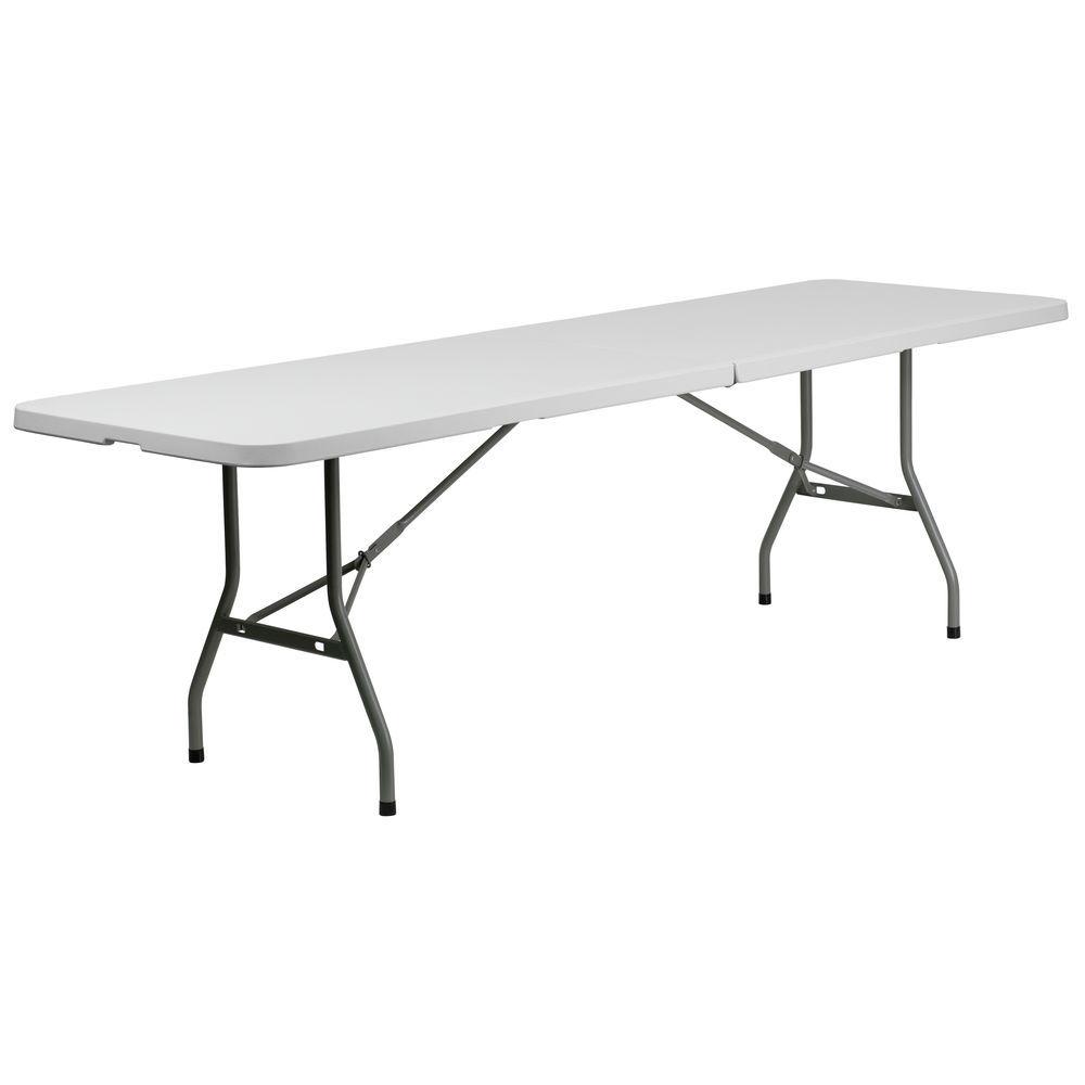 flash furniture 30 w x 96 l bi fold granite white plastic folding
