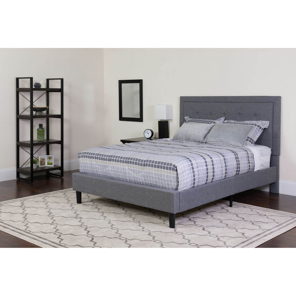 Flash furniture king platform bed set gray