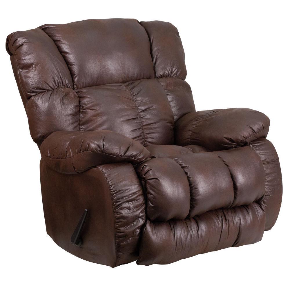 Strange Flash Furniture Contemporary Breathable Comfort Padre Espresso Fabric Rocker Recliner Machost Co Dining Chair Design Ideas Machostcouk