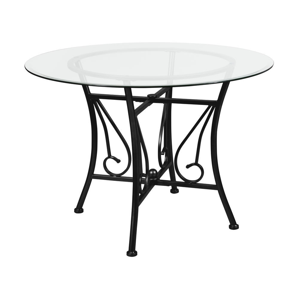 42 dining table dining room flash furniture princeton 42 round glass dining table with black metal frame