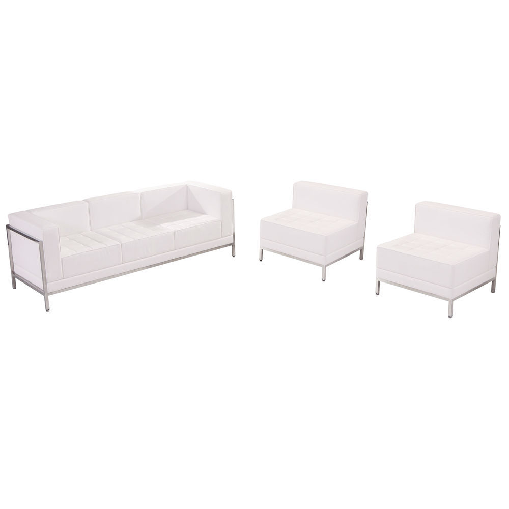 Awesome Flash Furniture Hercules Imagination Series Melrose White Leather Sofa Chair Set Pdpeps Interior Chair Design Pdpepsorg