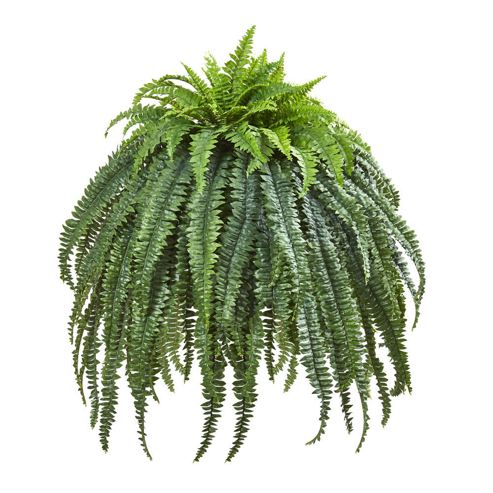 Nearly Natural 56 Giant Boston Fern Artificial Plant In Cement Bowl