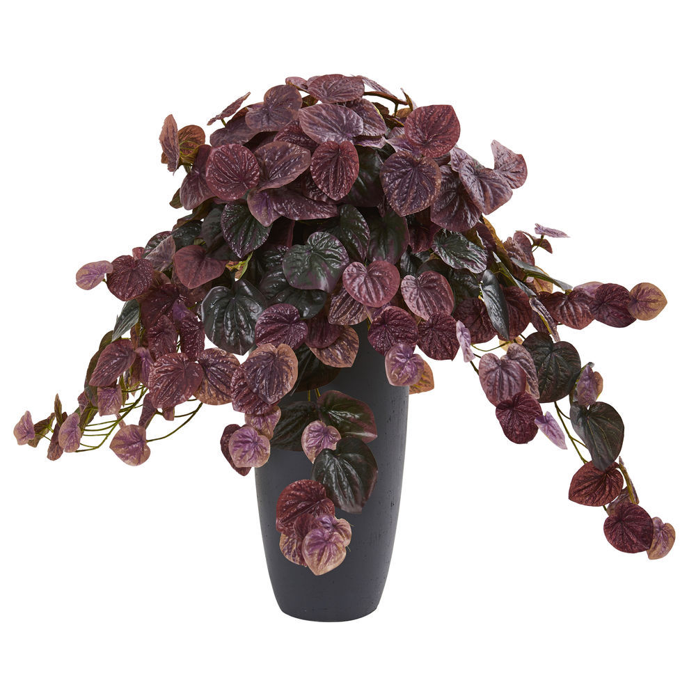 Nearly Natural 26in Peperomia Plant In Decorative Planter Real