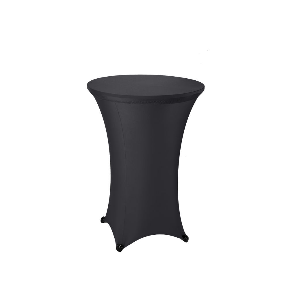 Sculptware 30 Round Fitted Black Spandex Stretch Cocktail Table