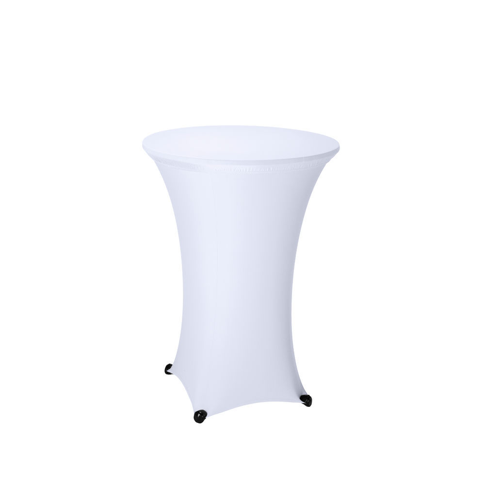 Sculptware 30 Round Fitted Polar White Spandex Stretch Cocktail