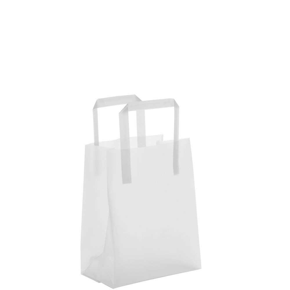 BAG, CLEAR FROSTED, 8 X 5 X 10