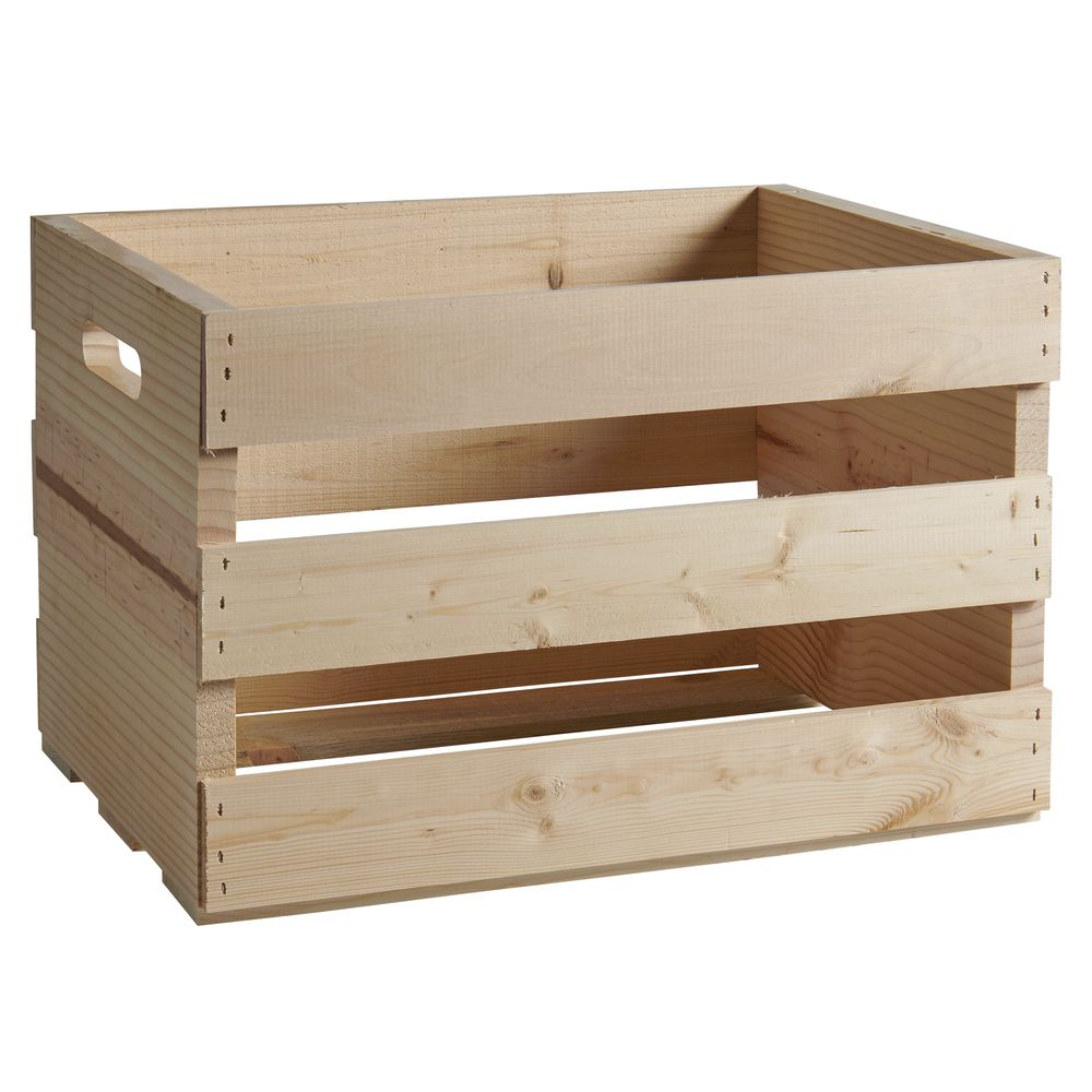 CRATE, WOOD, LARGE, NATURAL