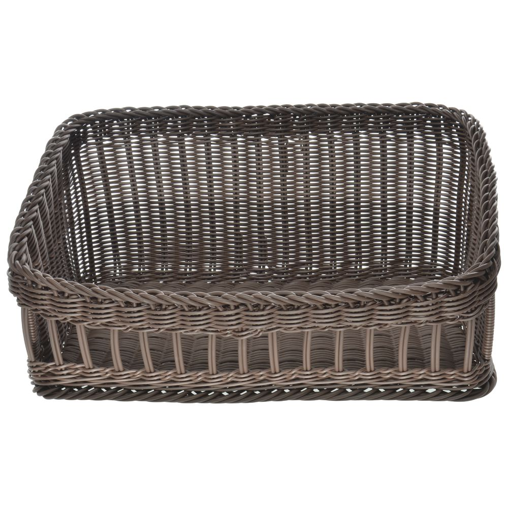 BASKET, WICKER, LG TAPERED, BROWN, WASHABLE