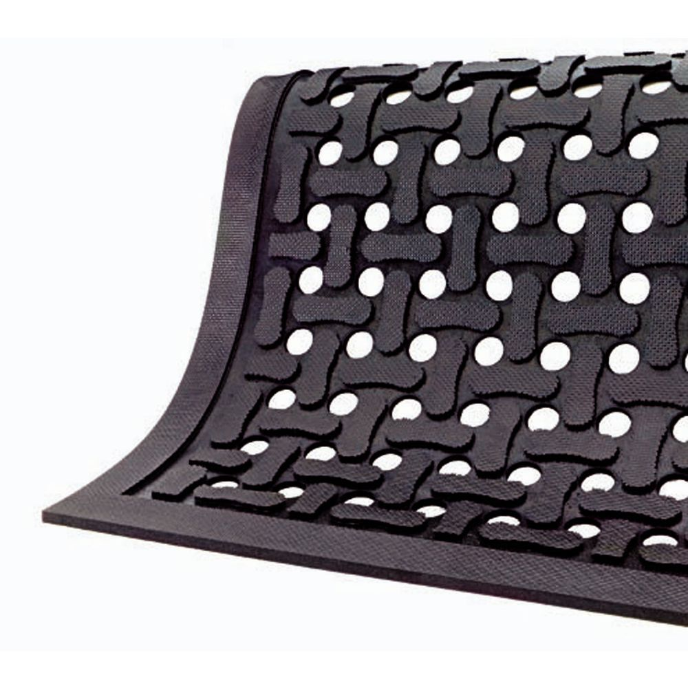 """Comfort Flow Mat With A Non-Grit Surface Is 4'W x 6'L x 7/16"""""""