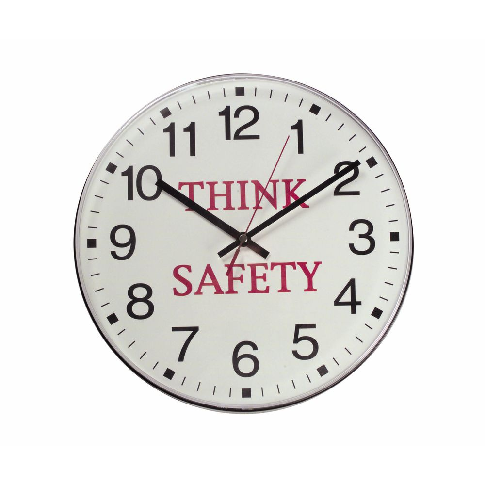 Think Safety Analog Clock 12 Quot Dia