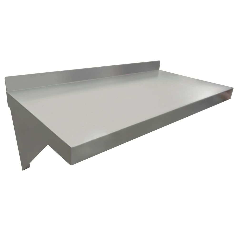 """24""""L 18 Gauge Stainless Steel Wall Shelf"""