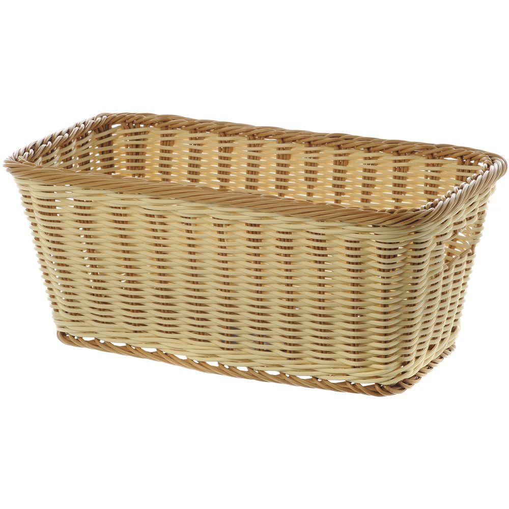 Small Wicker Basket has Tu-Toned Colors