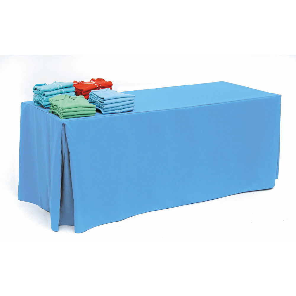 Ice Blue Fitted Tablecloth for 8ft Tables
