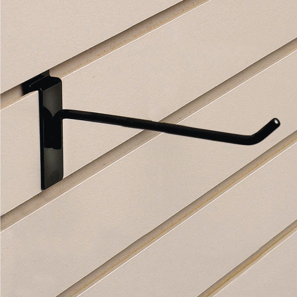 "HOOK, SLATWALL DELUXE, 6""BLACK"