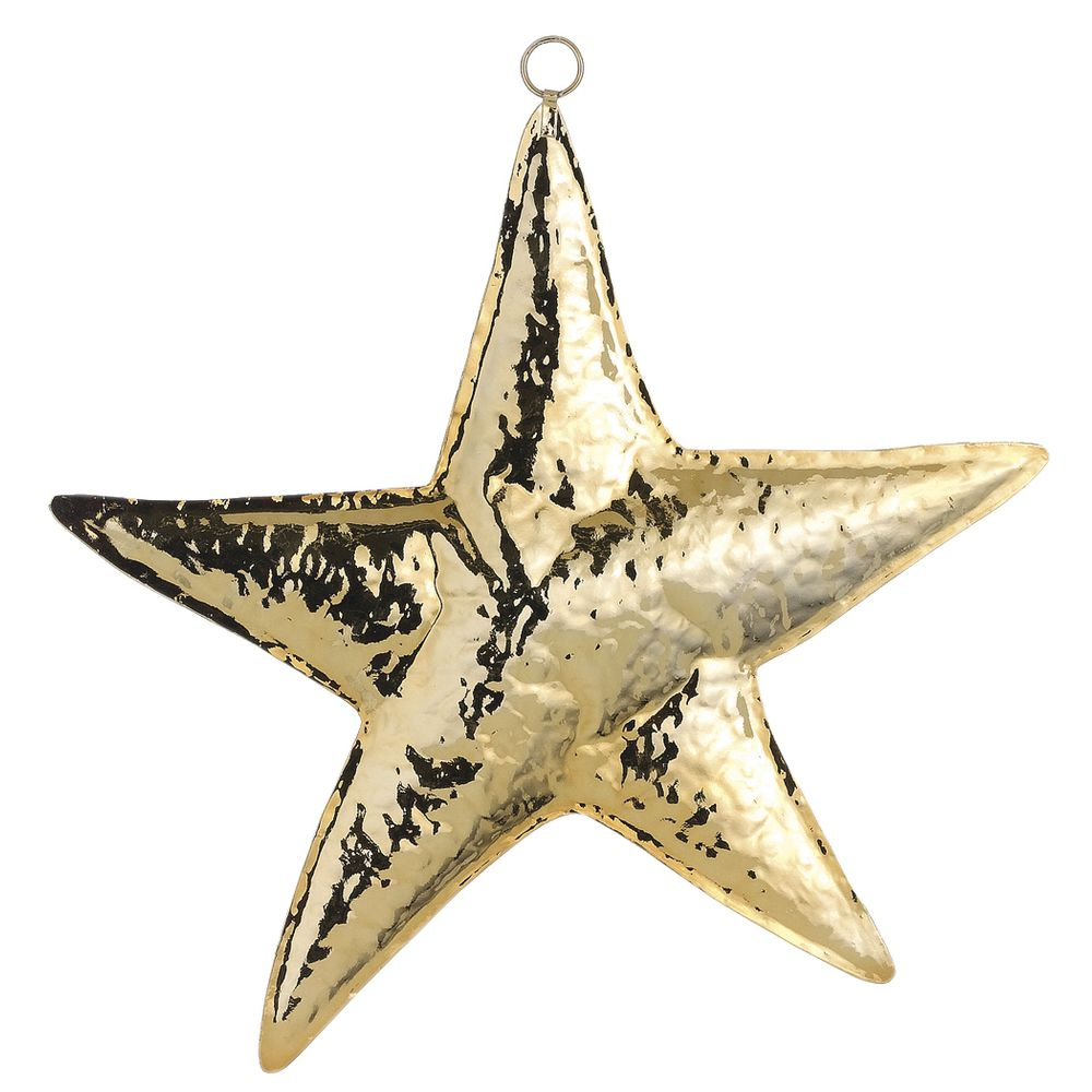 "CO ORNAMENT, STAR, GOLD, 17.5""H"