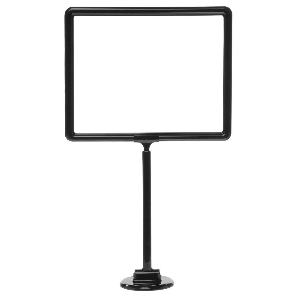 14 x 11 Adjustable Sign Stand, Black, Round Base