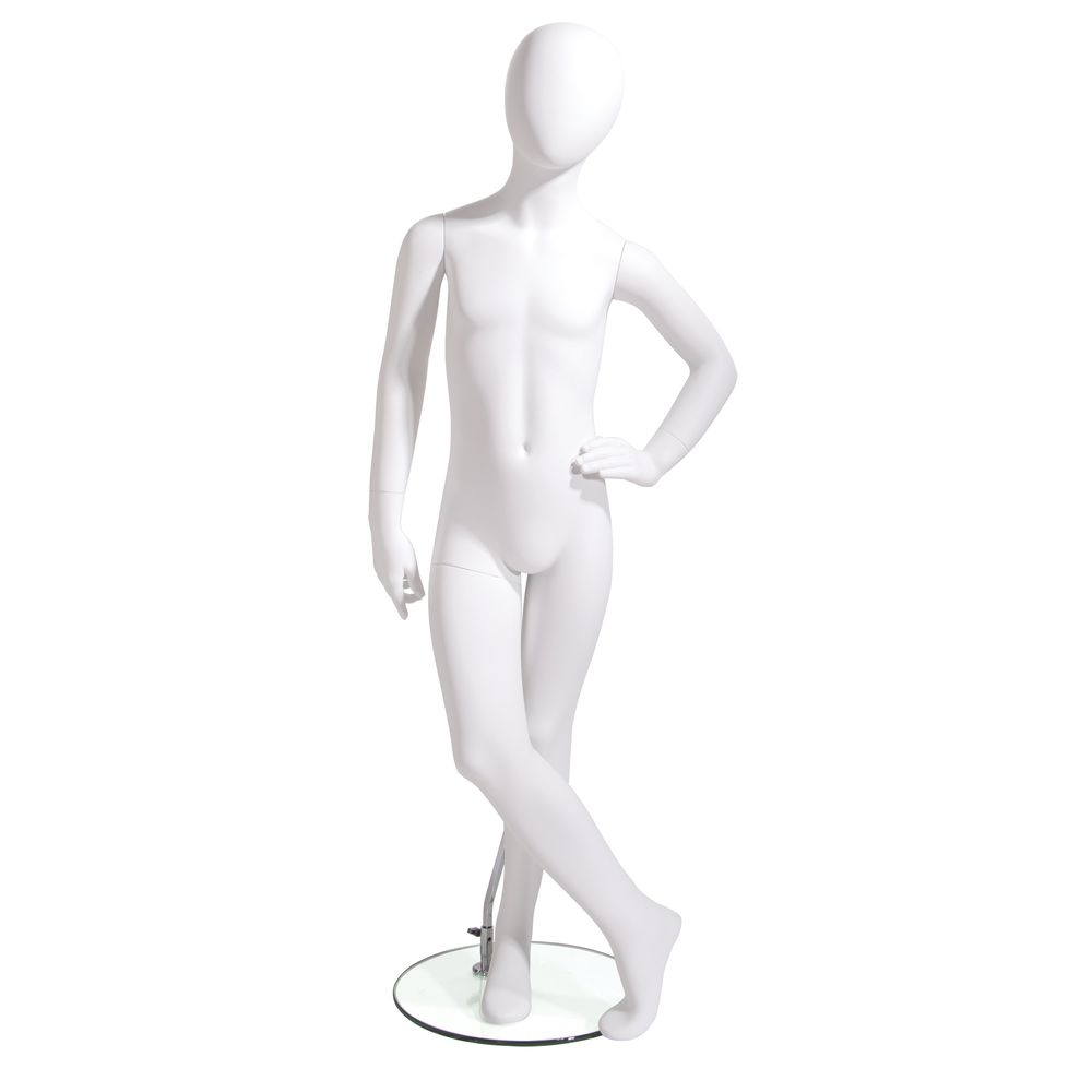 MANNEQUIN, KID, 8YRS, HAND/HIP, OVAL, WHT