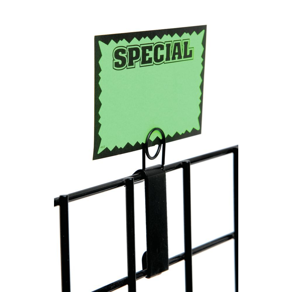 SIGN HOLDER, GRID, BLACK, METAL, 1WX5-1/2H