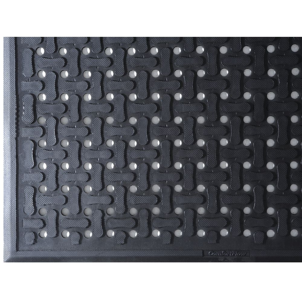 """Comfort Flow Mat With A Non-Grit Surface Is 3'W x 9'L x 7/16"""""""