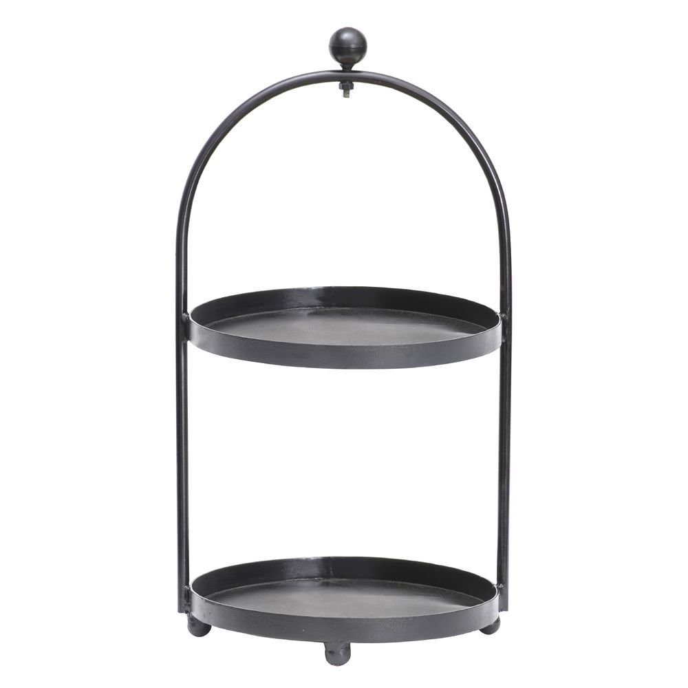 Expressly HUBERT® Tiered Display Stand 12 1/3Dia x 23 3/4H Iron