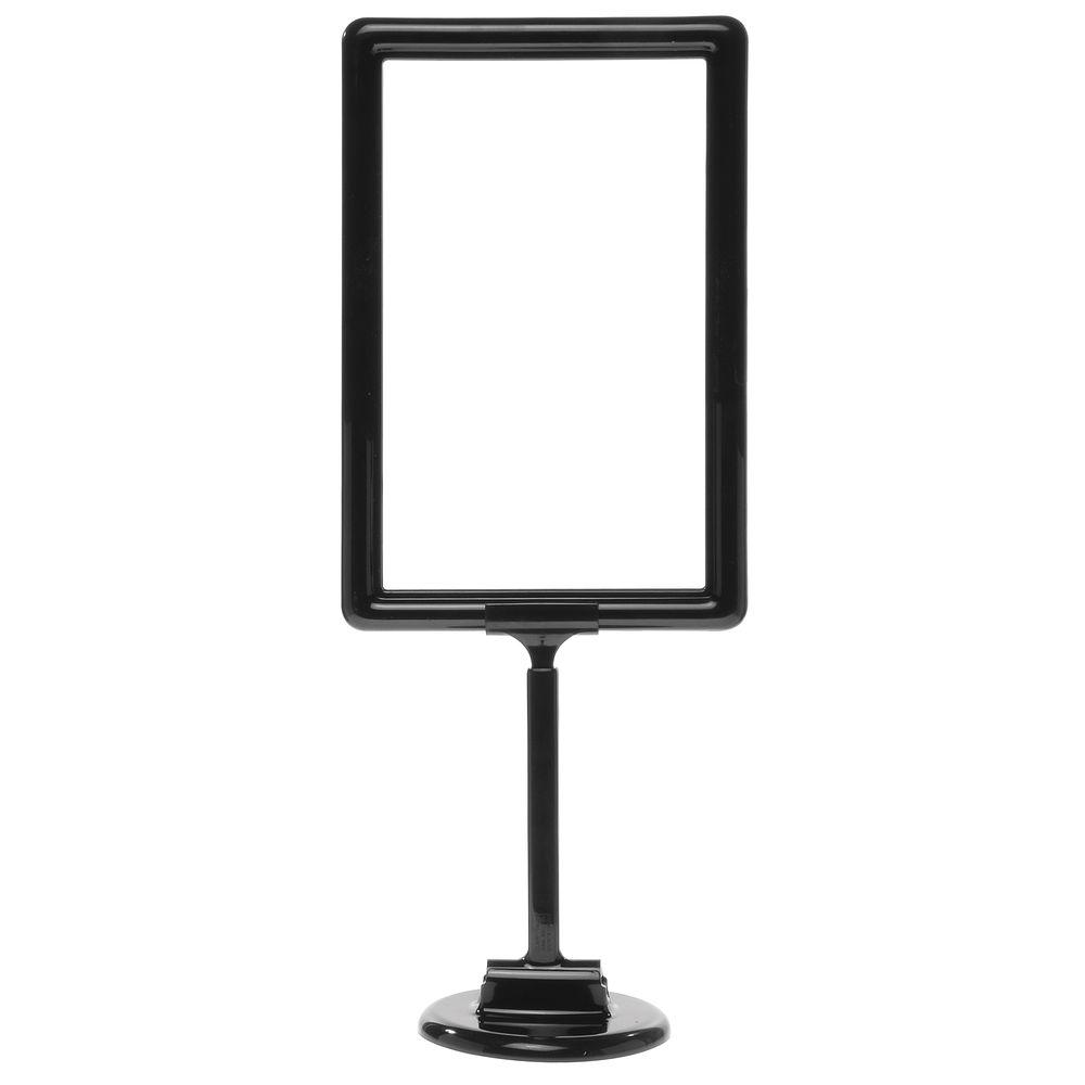 11 x 7 Adjustable Sign Display, Black, Round Base