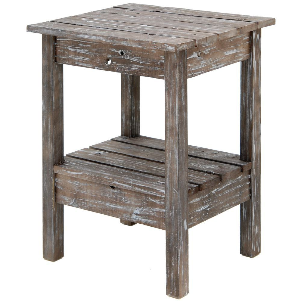 TABLE, DISPLAY, BROWN RUSTIC, SMALL