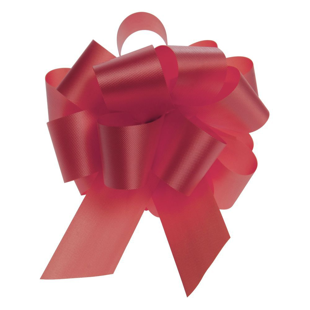 Red Flora Satin Pull Bows